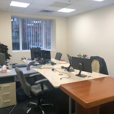 Rent office in the business center with an area of 110 sq m